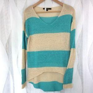 Love Stitch Color Block Sweater L Oversize Top